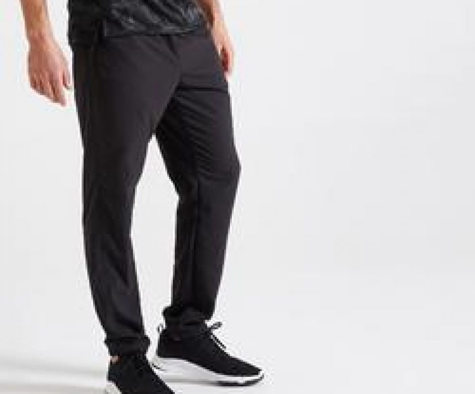 Pantaloni+uomo+fitness+120+neri